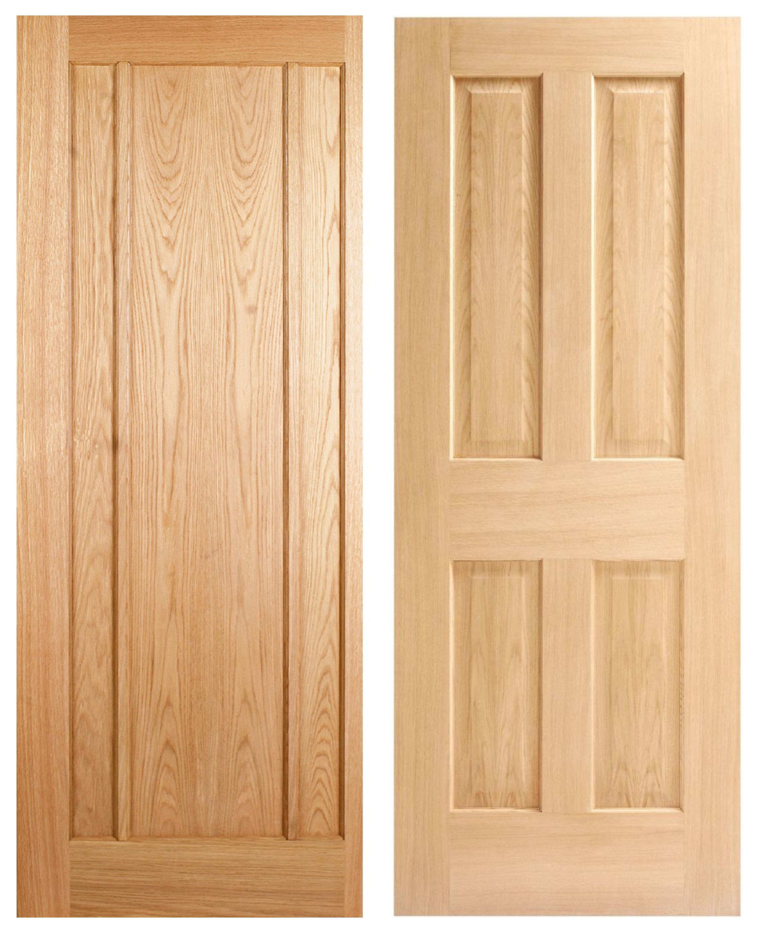 Wickes York Oak Veneer 3 Panel Internal Door or Cobham Oak 4 Panel Internal Door (1981mm X 686mm) for £25 (free click & collect) @ Wickes