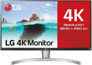 """LG 27UL650-W 27"""" 4K UHD Monitor with IPS Panel (3840 x 2160 pixels) in Silver and White - £240.02 @ Amazon Spain"""