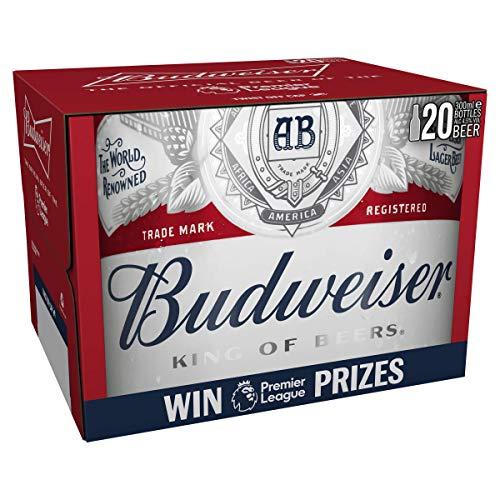 Budweiser Lager Beer Bottle, 20 x 300ml - £10 (+ £4.49 Non Prime) @ Amazon