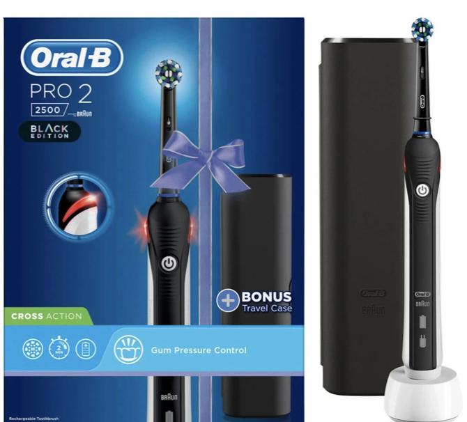 Oral-B Pro 2 2500 CrossAction Black Electric Toothbrush + Travel Case - £11.10 in-store @ Asda (Bishopbriggs)