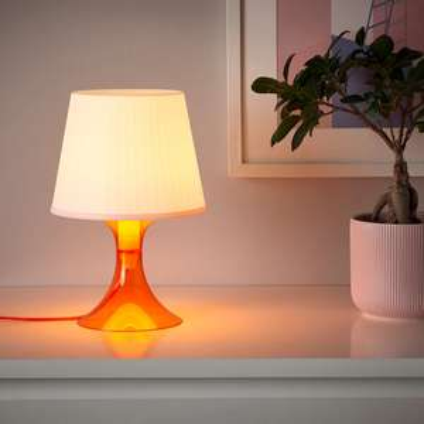 LAMPAN Table Lamp, Orange/White 29cm - £3 @ IKEA
