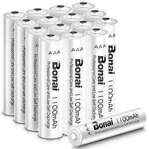 BONAI AAA Rechargeable Batteries 16Pack 1100mAh High-Capacity 1.2V Ni-MH Pre-Charged AAA Batteries - £10.95 (+£4.49 NP) - BONAI POWER / FBA