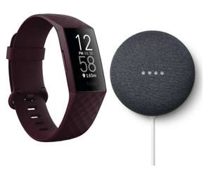 FITBIT Charge 4 Fitness Tracker & Google Nest Mini (2nd Gen) Bundle Rosewood - £109 @ Currys PC World