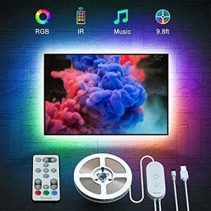 3M Govee LED TV Backlight, Music Sync USB Powered LED Strip Lighting Kit with Remote - £11.18 (+£4.49 NP) - Sold by Govee UK (FBA) @ Amazon