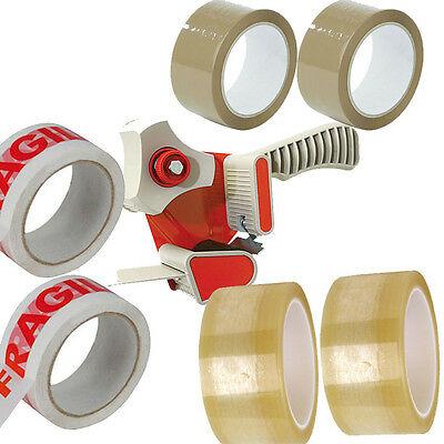 Heavy Duty Tape Hand Dispenser Gun + 6 Free Tape Roll (48mm x 66m) - £7.99 at uk-eshopping /eBay