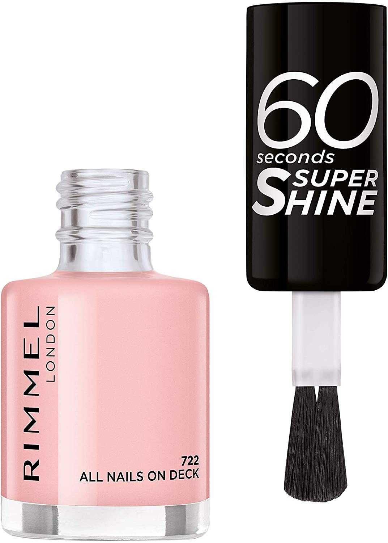 Rimmel 60 Seconds Super-Shine Nail Polish, All Nails On Deck, 8ml (£1.31 25% S&S) £1.75 at Amazon Prime (+£4.49 Non Prime)