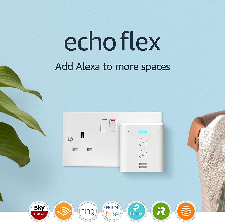 Echo Flex - £9.99 (Add Tapo Smart Plug for £5) / Echo Auto £24.99 Amazon Prime Exclusive