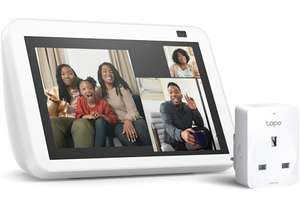 All-new Echo Show 8   2nd generation (2021 release), Glacier White + TP-Link Tapo P100 Smart Plug £89.99 (Prime Exclusive) at Amazon