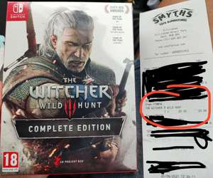 The Witcher 3 For Nintendo Switch Complete Edition £20 instore @ Smyth's Kent