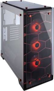 Corsair CC-9011111-WW Crystal Series 570X RGB Windowed Mid-Tower ATX Tempered Glass Case with RGB Case Fan - Red £78.95 @ Amazon