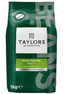 Taylors of Harrogate Rich Italian Coffee Beans, 1kg (Pack of 2) £19.09 @ Amazon Prime (£18.04 S&S) +£4.49 Non Prime