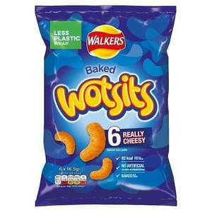 Wotsits Really Cheesy Puffs 6 Pack are £1 @ The Co-Op
