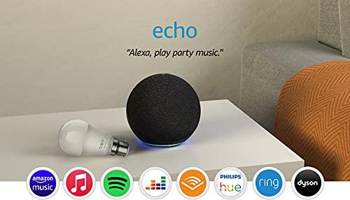 Amazon Echo (4th generation), 4 colour options + TP-Link Tapo Smart Bulb (B22) £54.99 at Amazon Prime