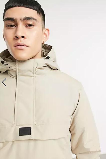Jack & Jones overhead jacket in beige £8.92 + £4 delivery @ ASOS