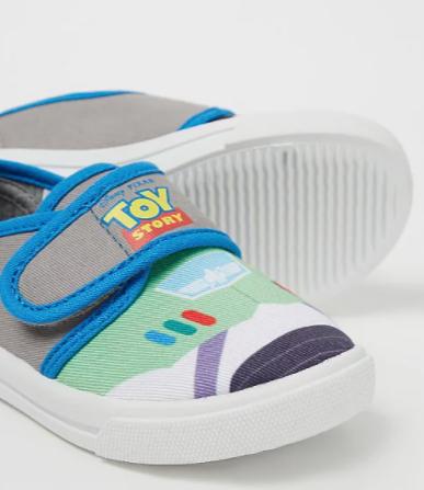 Disney pixar toy story grey canvas pumps £3 + Free click and collect @ Asda