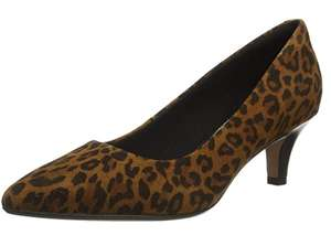 Clarks leopard print kitten heels size 5 £6.62 prime / £11.11 non prime Dispatched from and sold by Amazon US.