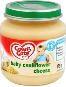 Cow and gate baby food 4-6 months cauliflower cheese & chicken sunday lunch 5p at Boots - kings road London
