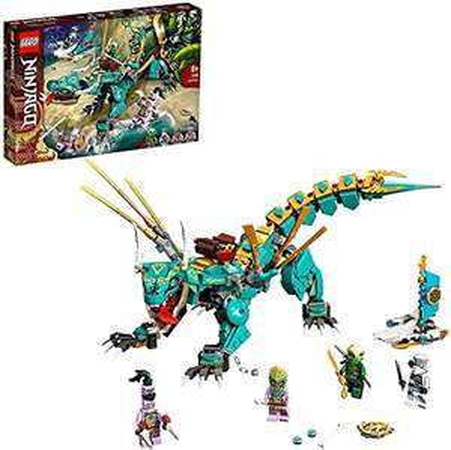 LEGO 71746 NINJAGO Jungle Dragon Building Set, with Ninja Lloyd and Zane Minifigures, Toys for 8+ £23.99 @ Amazon Prime Exclusive