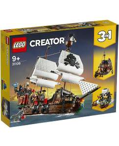 LEGO 31109 Creator 3-in-1 Pirate Ship, Inn & Skull Island - for Kids 9+ with Minifigures and Shark Figure - £51.99 @ Amazon (with Prime)