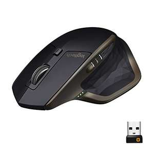 Logitech MX Master Wireless Mouse, Bluetooth or 2.4 GHz with USB Unifying Mini-Receiver, 1000 DPI - £32.99 (Prime Exclusive) @ Amazon