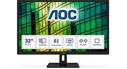 "AOC Q32E2N 31.5"" QHD IPS Adaptive-Sync 75Hz Vesa Speakers Monitor, £159.99 (Prime Exclusive) @ Amazon"
