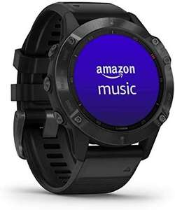 Garmin fenix 6 Pro, Ultimate Multisport GPS Watch, Features Mapping, Music, Grade-Adjusted Pace Monitoring £375 (Prime Exclusive) @ Amazon