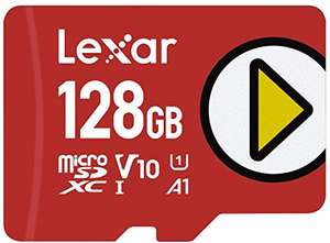 128GB - Lexar PLAY microSDXC UHS-I Card, Up To 150 MB/s Read (LMSPLAY128G-BNNAG) £12.55 Prime Exclusive @ Amazon