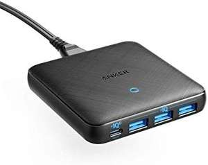Anker USB C Charger, 65W 4 Port PIQ 3.0&GaN Fast Charger Adapter £25.59 Prime Exclusive at Amazon