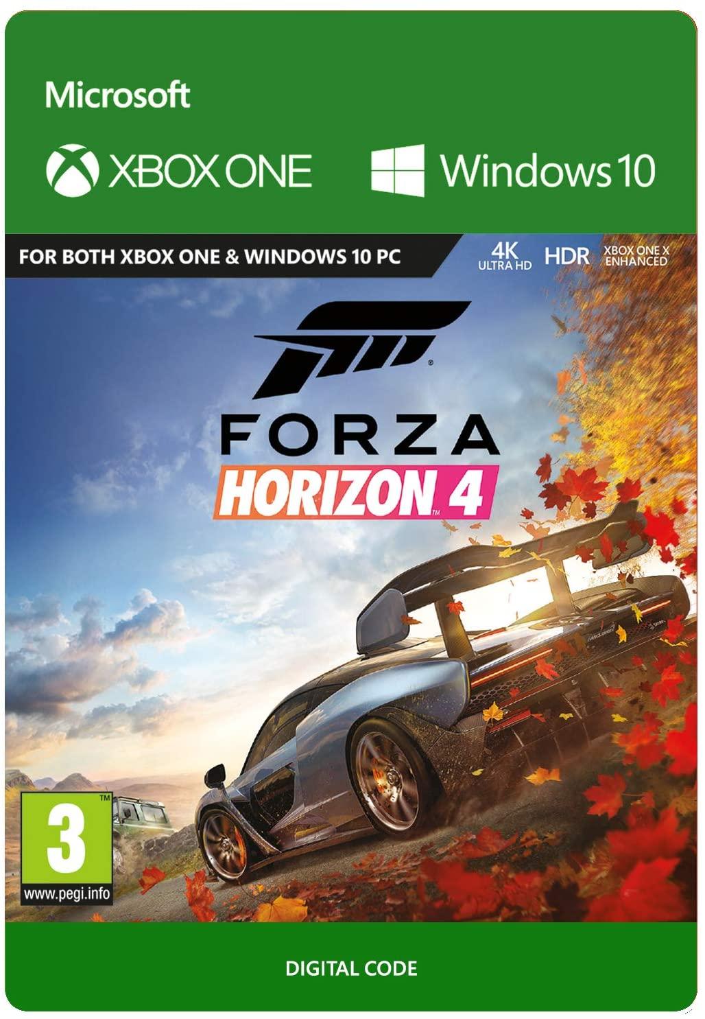 Forza Horizon 4 Xbox One & PC Download Code - £12.49 @ Amazon (Prime Members Only)