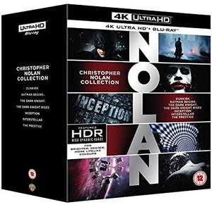 Christopher Nolan Collection [4K Ultra HD] [2018] [Blu-ray] £55.45 (Prime Exclusive) @ Amazon