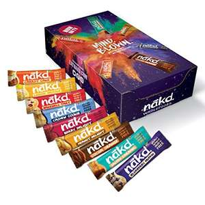 Nakd Mind Blown Fruit & Nut Bar Mixed Case - Vegan Bars - Gluten Free - 35g (Pack of 18 Assorted) £8.99 @ Amazon prime exclusive