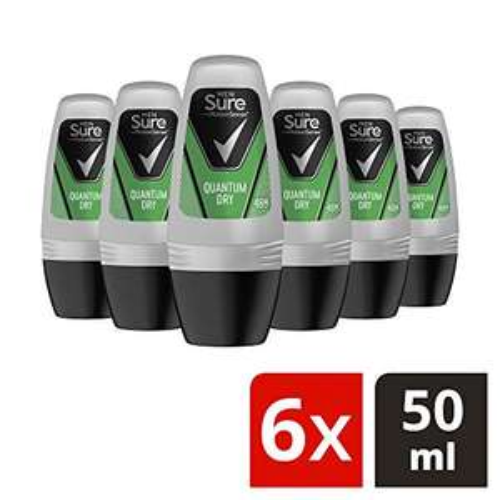 6 x Sure Quantum Dry Anti-Perspirant Roll On 50ml £4.12 (68p Each) @ Amazon (Prime Exclusive)