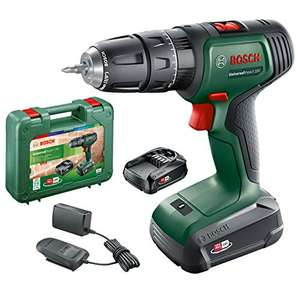 Bosch 06039D4171 Cordless Hammer Drill UniversalImpact 18 V (2 batteries, 18 Volt System, in carrying case) £79 Amazon Prime Exclusive