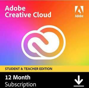 Adobe Creative Cloud All Apps | Student & Teacher 1 Year PC/Mac Download £121.99 Amazon Prime Exclusive