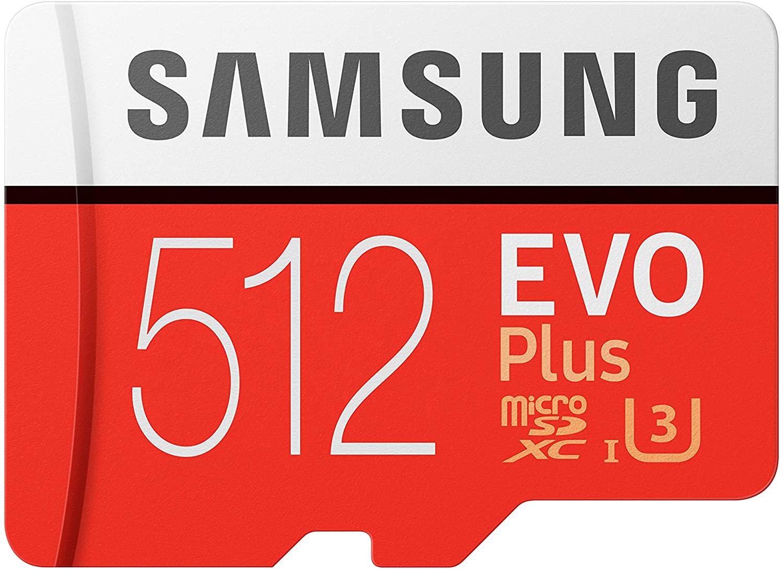 SAMSUNG EVO Plus 512Gb microSD + adapter £52.93 with £20 Samsung cashback (UK Mainland) sold by Amazon EU