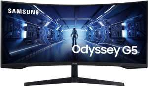 """Samsung Odyssey LC34G55TWWUXEN 34"""" G55 1000R Curved Gaming Monitor - 165Hz, 1ms, 1440p QHD - £384 Amazon Prime Exclusive"""