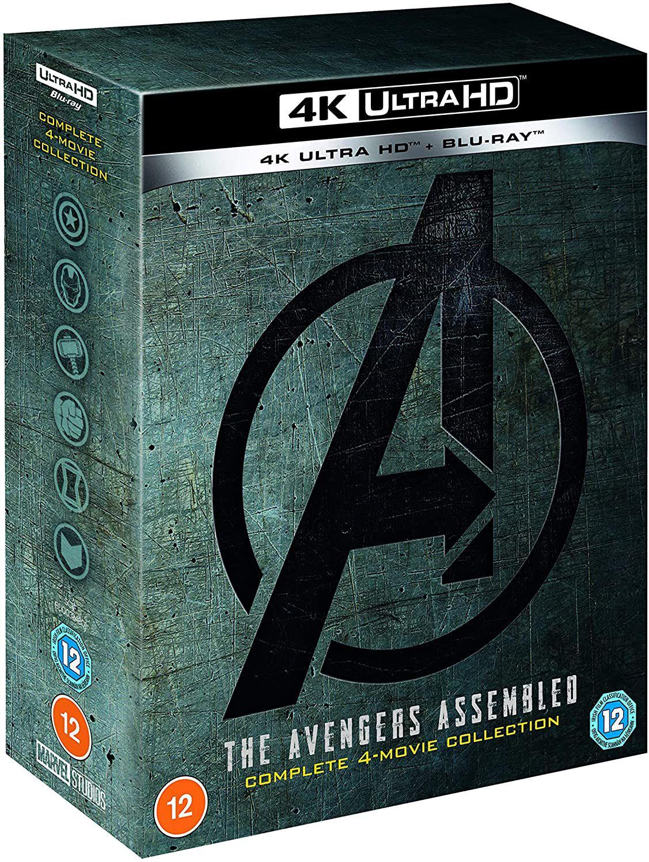 Avengers 1-4 - 4K UHD Collection [Blu-ray] [2021] £38 @ Amazon Prime Exclusive