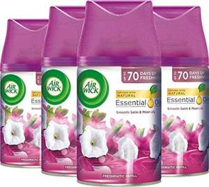 Airwick Air Freshener, Freshmatic Auto Spray, Smooth Satin and Moon Lily, Refill 250 ml, Pack of 4 £2.63 with voucher Amazon Prime Exclusive