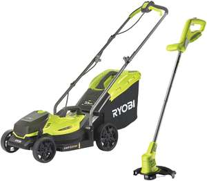 Ryobi 18V ONE+ Cordless Lawnmower and Grass Trimmer Kit (1 x 4.0Ah) £167.49 Amazon Prime Exclusive