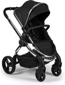 iCandy Peach Pushchair and Carrycot Set, Chrome Black Twill £585 with code Amazon Prime Exclusive