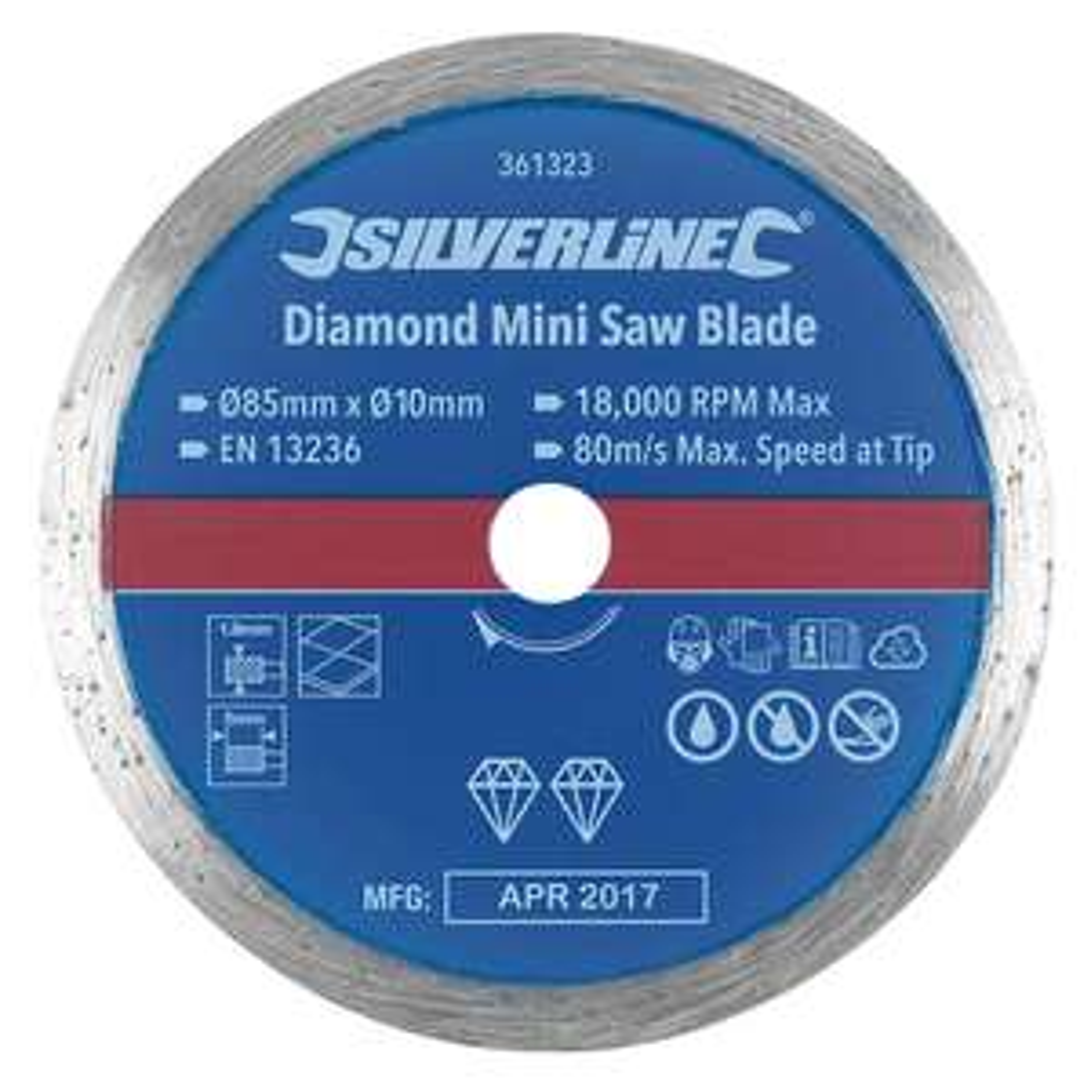 Tile Mini Diamond Circular Saw Blade 85 x 10mm £2.99 Screwfix free click & collect