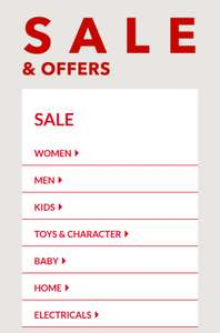 George sale at Asda online, some items less than half price, free click and collect