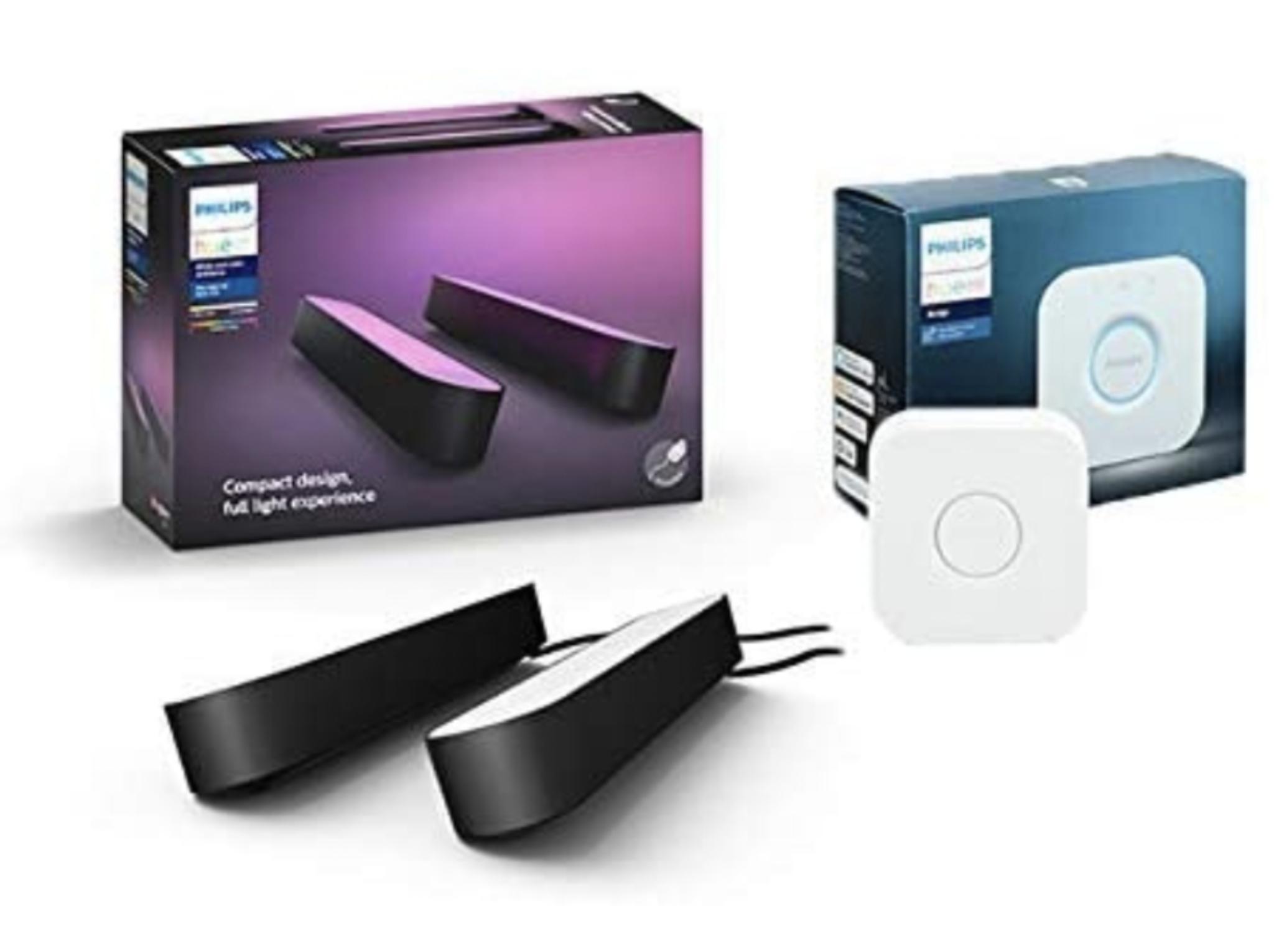 Philips Hue Smart Light Bar Double Pack with Hue Bridge - £99.99 Amazon Prime Exclusive
