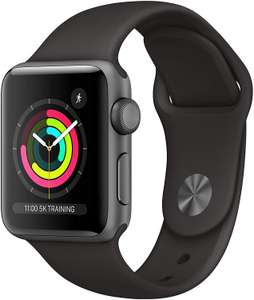 Apple Watch Series 3 (GPS, 38mm) - Space Grey Aluminum Case with Black Sport Band £169 Amazon Prime Exclusive
