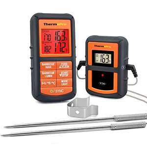 ThermoPro TP08 Digital BBQ Thermometer with Dual Probes 300 Ft Wireless Range £31.99 Sold by My iTronics and FB Amazon Prime Exclusive