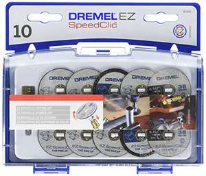 Dremel 690 EZ SpeedClic Cutting Wheels Set - Accessory Kit with 10 Rotary Tool Cutting Discs and Mandrel £13.50 Amazon Prime Exclusive