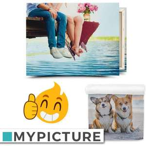 Personalised Canvas Prints £22-£27 Delivered - EG: 90x60cm £22 / 120x80cm £27 / Personalised Photo Towels from £22 - £38 @ Mypicture