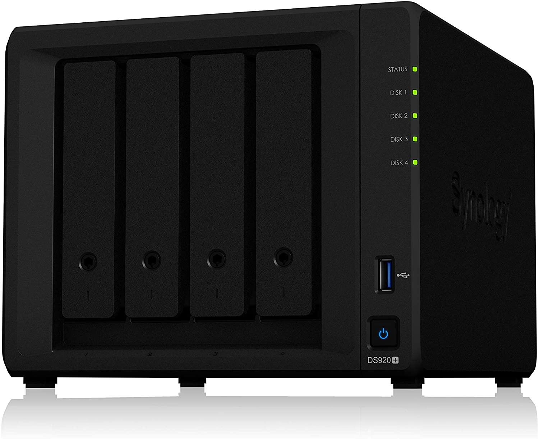 Synology DS920+ 4 Bay NAS Enclosure - £404.39 @ Amazon