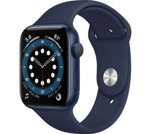 APPLE Watch Series 6 - Blue Aluminium with Deep Navy Sports Band, 44 mm - £299 delivered / Click & Collect @ Currys PC World