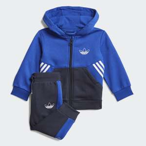 adidas Originals kids SPRT full-zip hoodie tracksuit set in blue (0-3M to 3-4 years) for £16.72 delivered (Creators Club) with code @ adidas